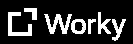 Worky logo blanco